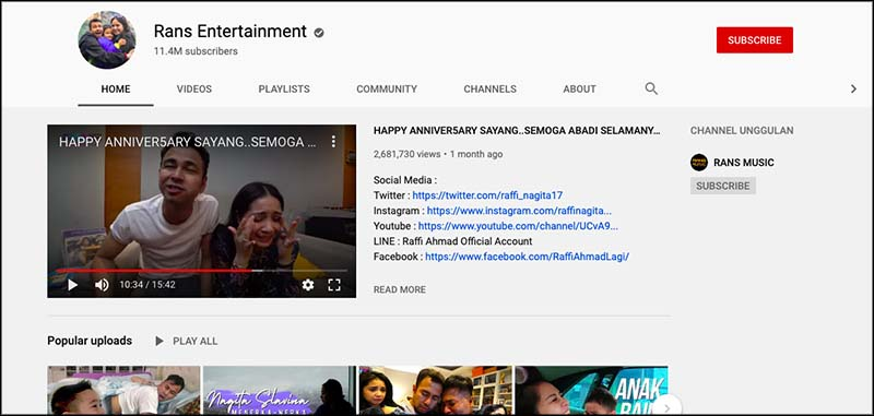Rans entertainment youtube