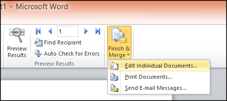 Edit Individual Documents