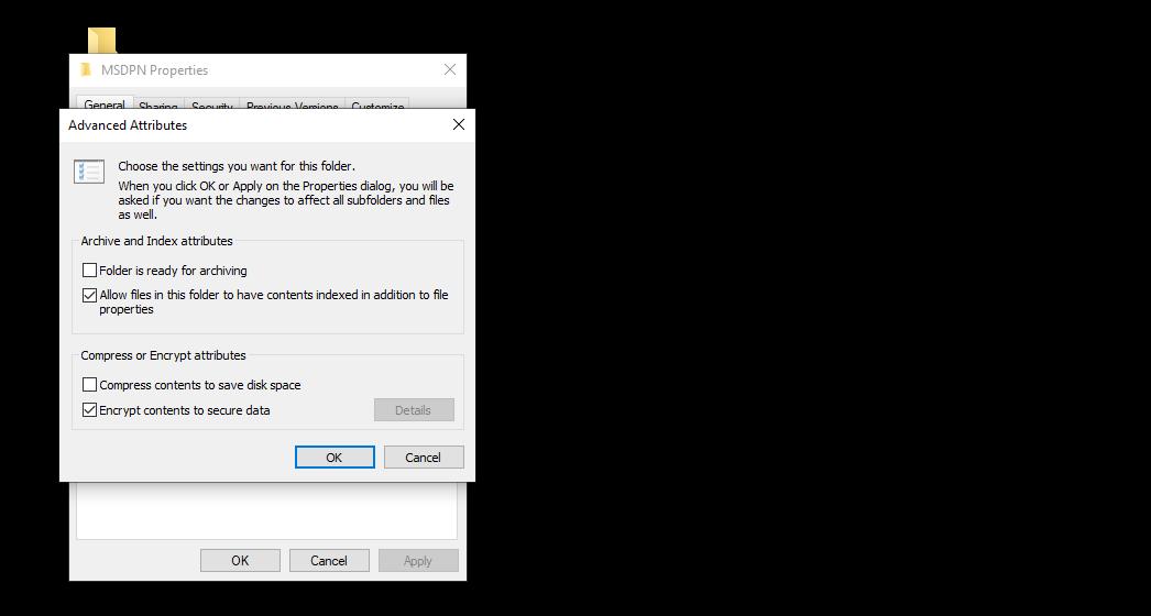 "cara mengunci folder - Berikan centang pada pilihan ""Encrypt contents to secure data"", lalu selanjutnya klik ""OK"""