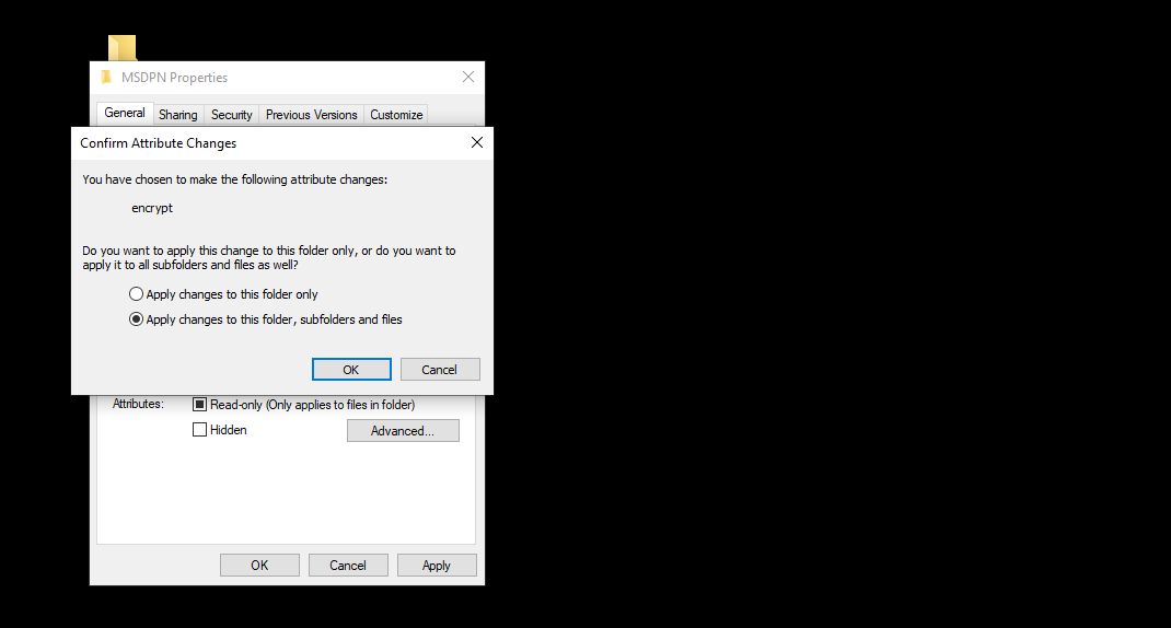 cara mengunci folder - Selanjutnya kamu akan diberikan pilihan, apakah hanya folder tersebut yang diberikan kata sandi ataukan sampai ke semua direktori yang ada di dalamnya