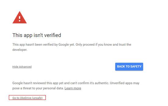 OkeDrive cukup aman untuk di gunakan.