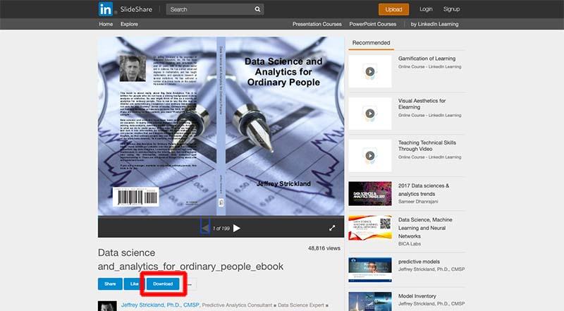 download slideshare button