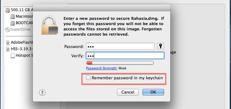 password baru untuk rahasia