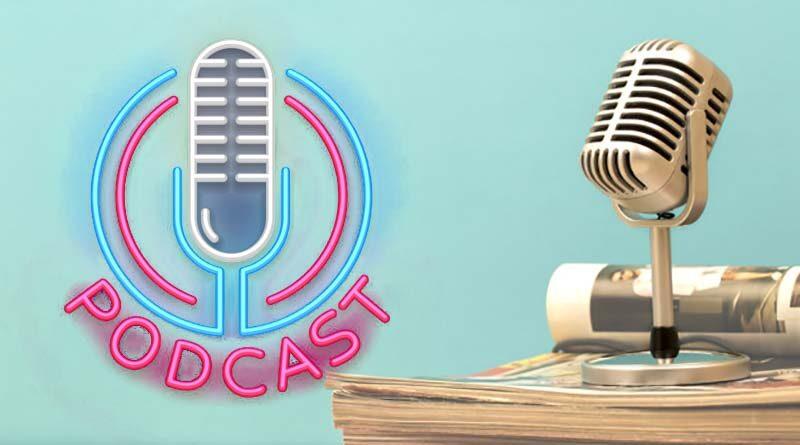 retro mic podcast