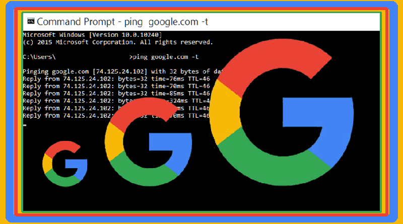 Cara ping google