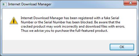 Dengan IDM Fake Serial Remover