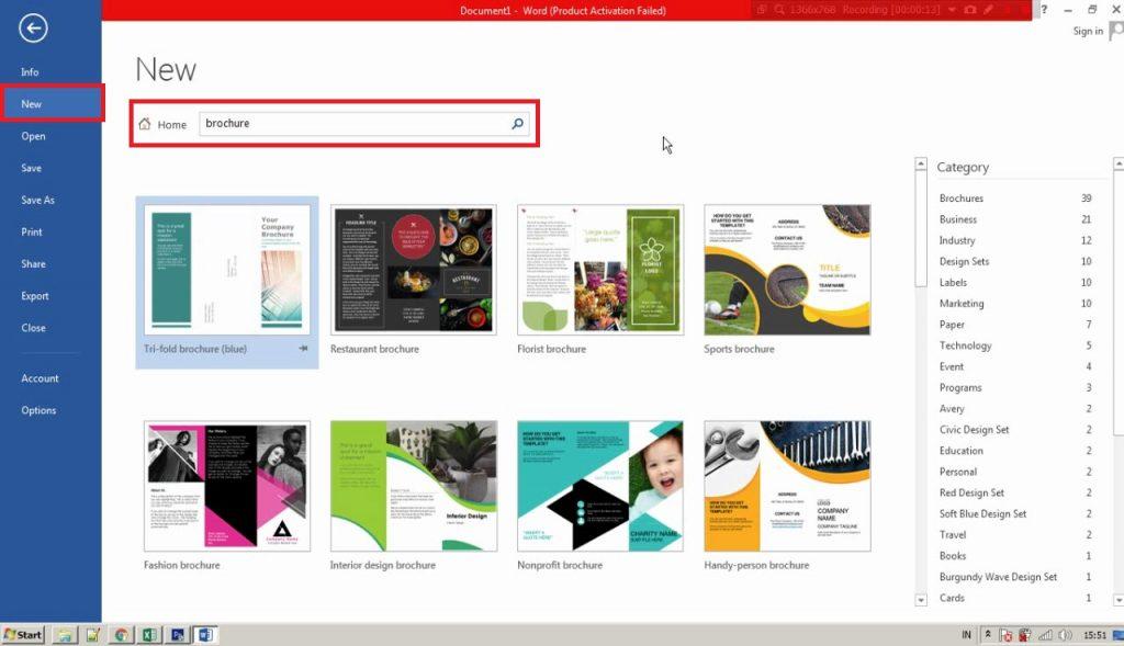 cara membuat brosur di ms word 2013 - 1