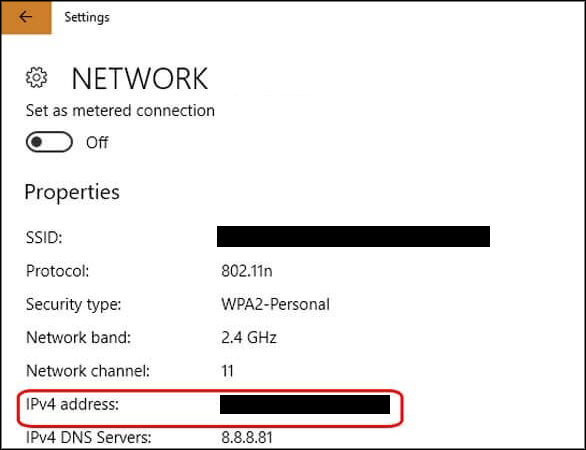 ipv4 network setting windows 10