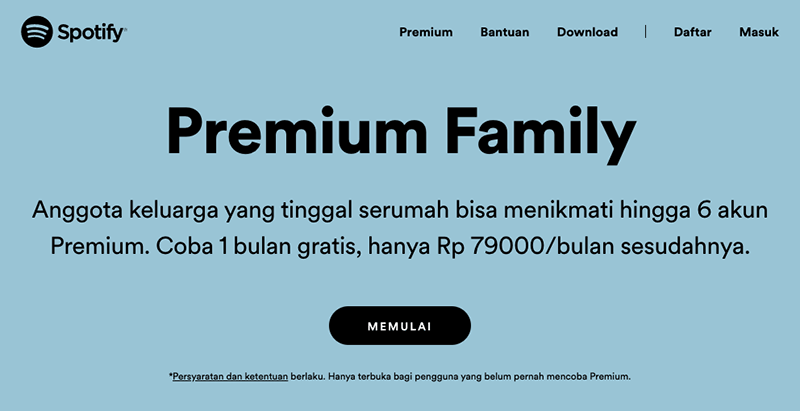 Spotify Premium Family Homepage Banner