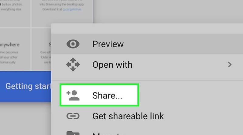 google drive share