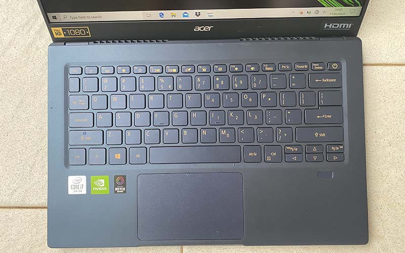 keyboard acer swift 5 2020
