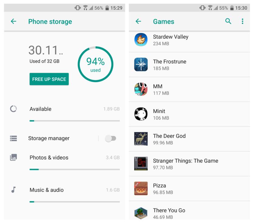 Cara Mengatasi Download Tertunda di Playstore - Cek Ruang Penyimpanan dan SD Card