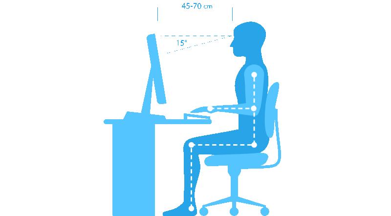 postur duduk mengetik