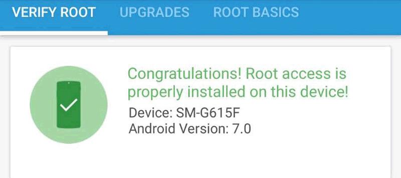 sukses root di perangkat