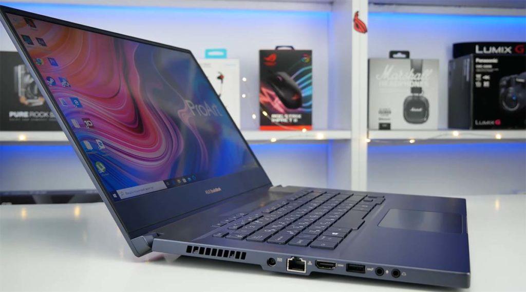 Asus Proart Studiobook 15 desain kiri
