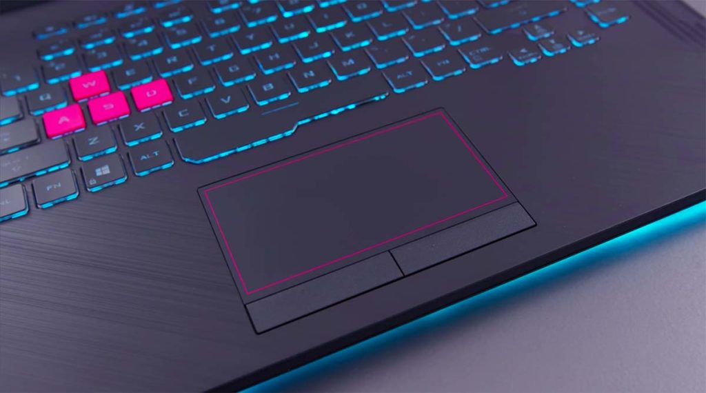 Asus ROG Strix Scar G15 touchpad