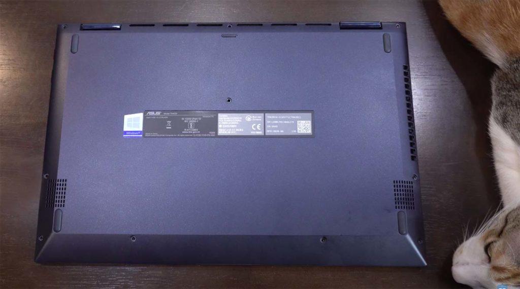 Asus VivoBook Flip 14 2020 bawah kucing