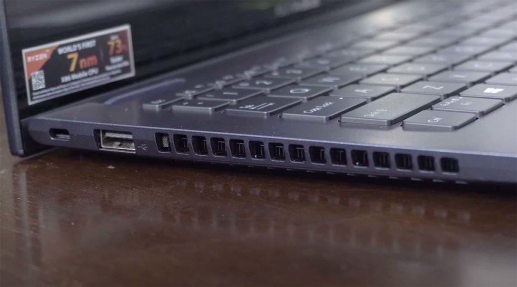 Asus VivoBook Flip 14 2020 port kiri