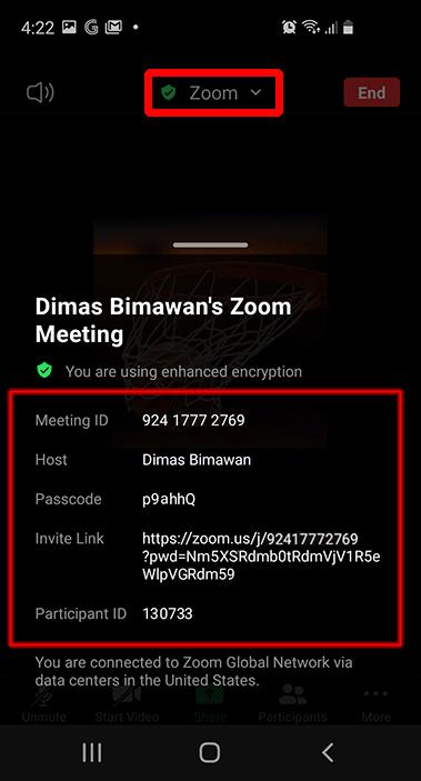 meeting id passcode invite link zoom smartphone