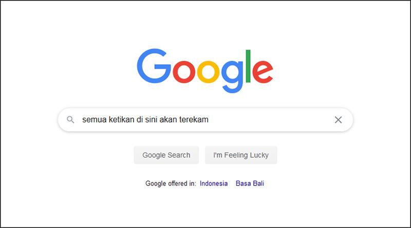 google merekam aktivitas