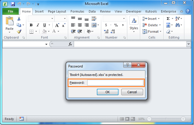 Jenis-Jenis Password Microsoft Excel