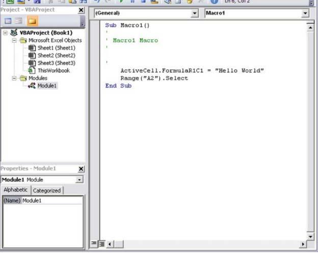 Menggunakan Microsoft Visual Basic