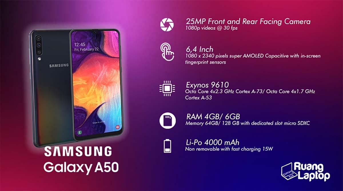 spesifikasi samsung galaxy a50
