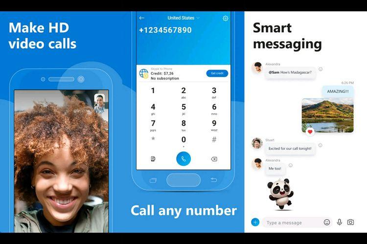 aplikasi meeting online Skype