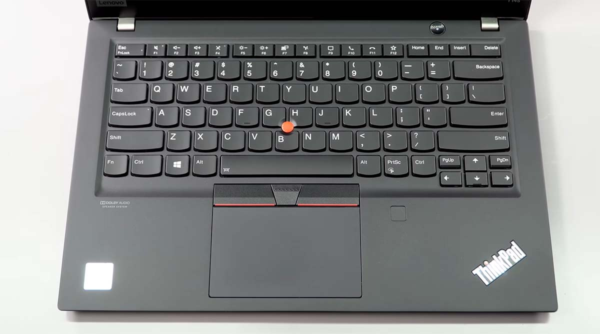 Lenovo Thinkpad T14s keyboard touchpad