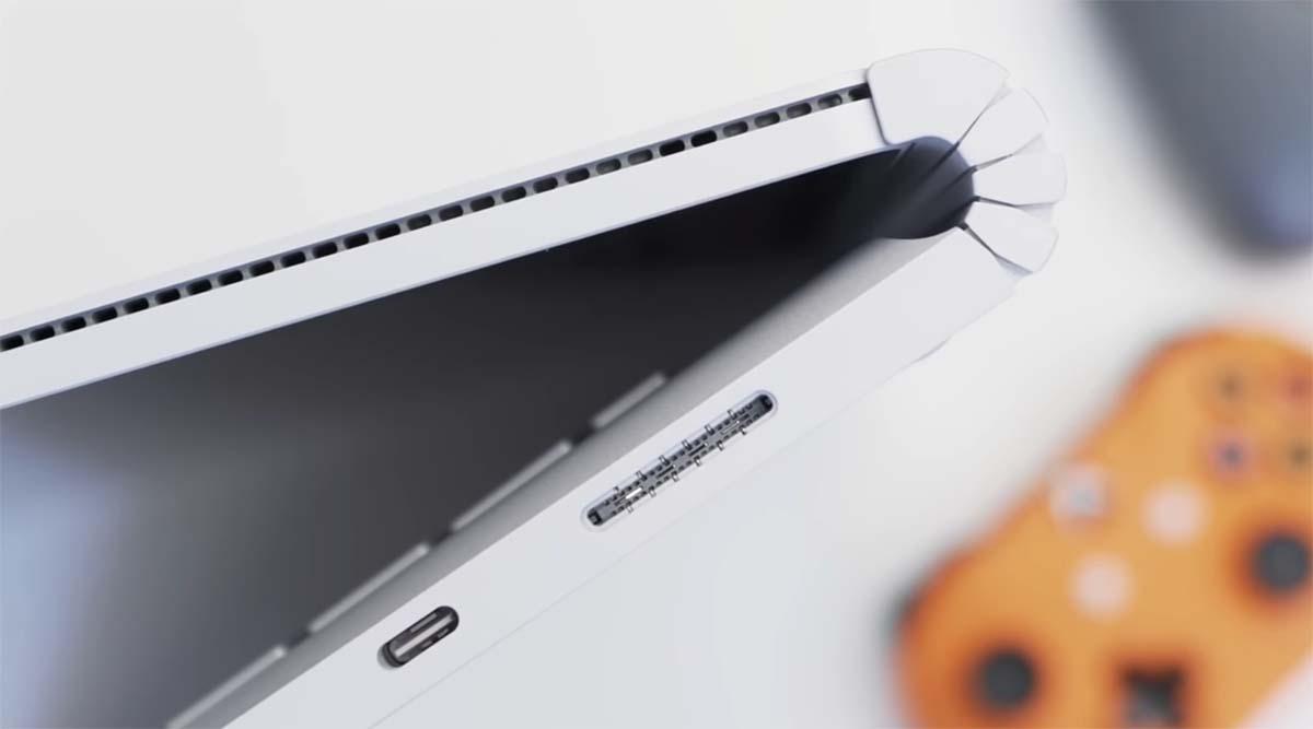 Microsoft Surface Book 3 (15 inch) port kanan