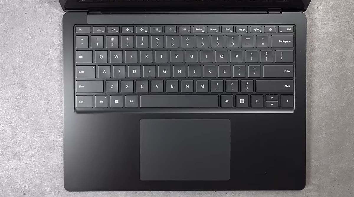 Microsoft Surface Laptop 3 (13.5-inch) keyboard touchpad