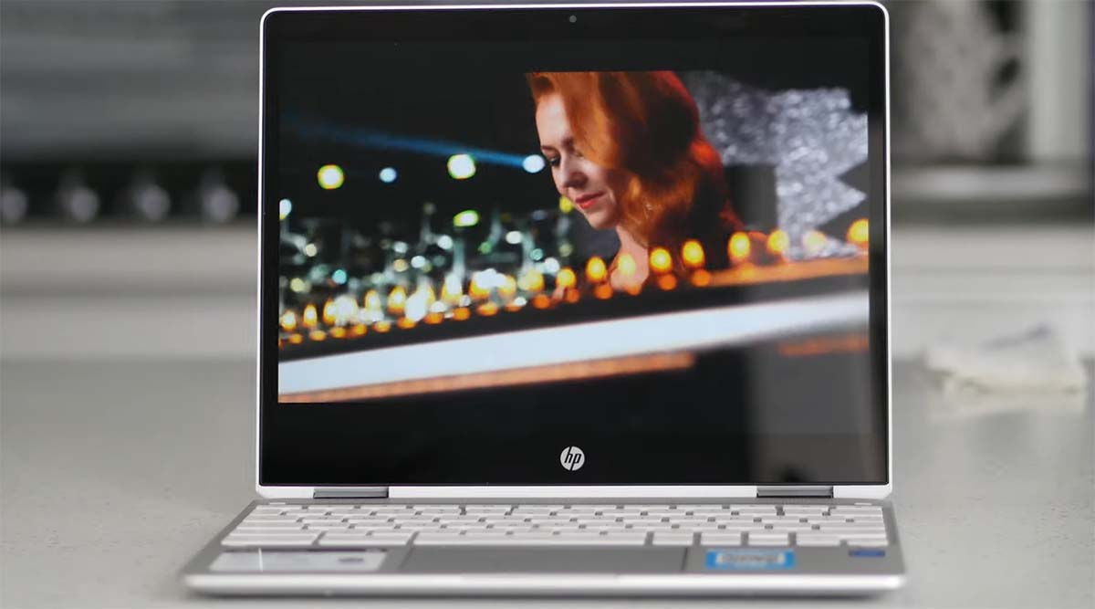 Review HP Chromebook x360 12b display