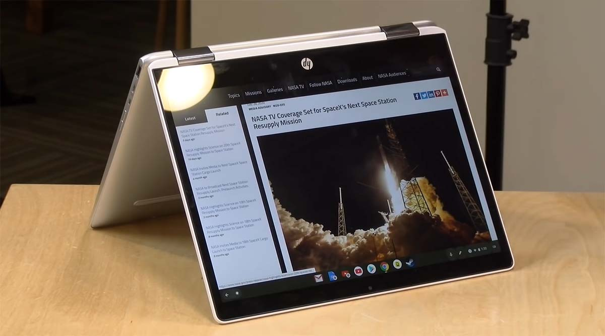 Review HP Chromebook x360 12b tenda