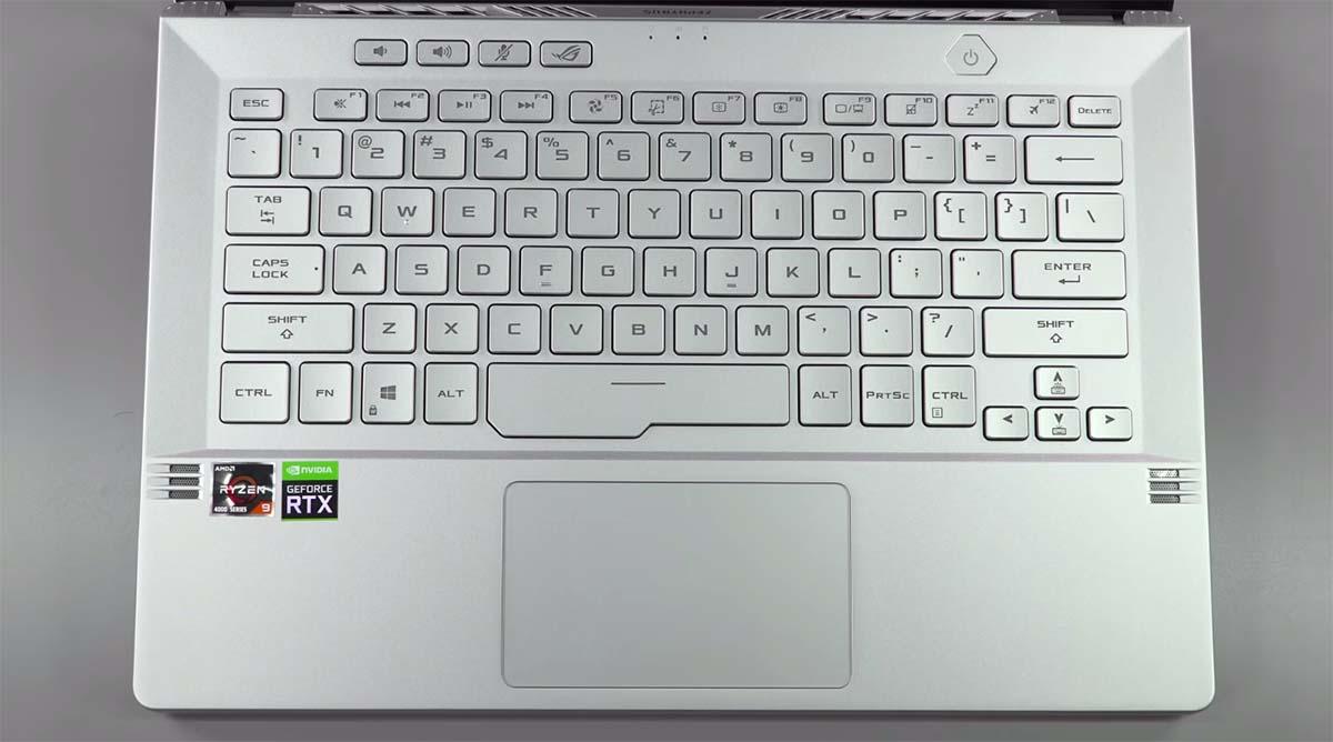 Asus ROG Zephyrus G14 keyboard