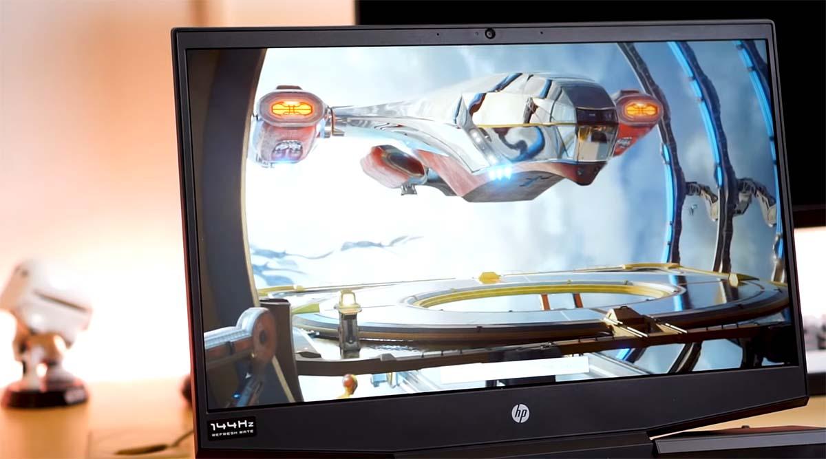 hp pavilion gaming 15 2020 layar